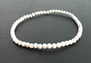 White Anklets,howlite anklets,stone anklets,men and women anklets,gift