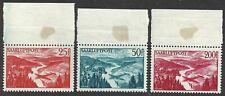 1948 Saarland/ Sarre, Pa N°9/11 3 Values MNH