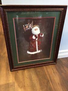 D Morgan Signed Framed Santa Claus Artist Proof Print 1989