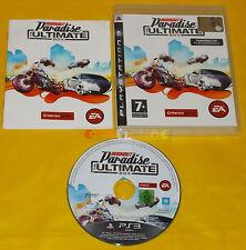 BURNOUT PARADISE THE ULTIMATE BOX Ps3 Versione Italiana 1ª Edizione ••• COMPLETO