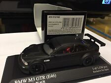 MINICHAMPS KYOSHO 1 43 BMW M3 GTR E46 Homologation In Black LIM.1536