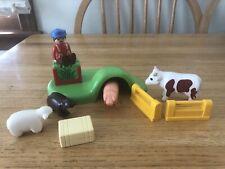 Playmobil 123 Farm Set Animals Farmer Scene