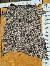 Leder Lederhaut Ziegenleder Loepard - Optik, Leoparden Muster, 1A Effektleder