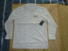 MENS XLARGE IVORY/GRAY ACCENTS LS NIKE BUTTON UP PERFORMANCE SHIRT - NWT