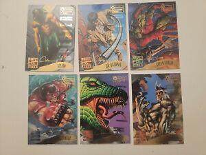 1995 Fleer Marvel Masterpieces Emotion Signature Series Lot of 6 JUGGERNAUT