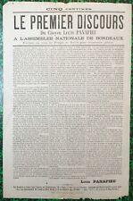Rare placard février 1871 Siège de Paris, Commune Feuille volante Affiche Presse