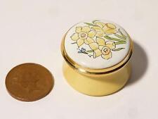 JONQUIL MARCHE mois fleur Staffordshire émaux Boîte à bijoux emballé #11