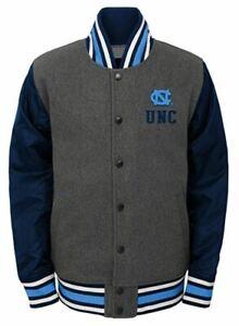 Gen 2 Boys' NCAA Letterman Varsity Jacket, North Carolina Tar Heels, XL (18)