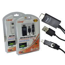Cavo Adattatore Multimediale MHL Micro Usb 2.0 to Hdmi Per Samsung 3m Linq m6789