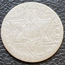 1857 Three Cent Piece Silver Trime 3c Circulated  #24770