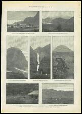 1889 Antique Print HAWAII Hawaiian Leper Asylum ISLE OF MOLOKAI (217)