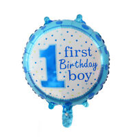 1pcs 1 year old birthday children party decoration helium aluminum Foil balloon