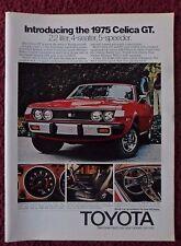 1975 Print Ad Red Toyota Celica GT Car Automobile ~ 2.2 Liter 4-Seater 5-Speeder