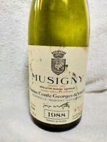 1988 DOMAINE COMTE GEORGES DE VOGUE MUSIGNY Bottle (empty)  France Wine