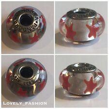Boxed PANDORA Orange Stars Murano Glass Charm Sterling Silver S925 ALE 790906