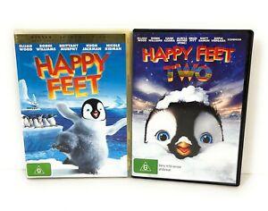 Happy Feet 1 & 2 DVD Elijah Wood Region 4 Free Postage