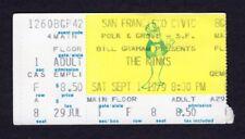 1979 The Kinks Herman Brood Concert Ticket Stub San Francisco You Really Got Me