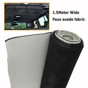 Auto Car Headliner Roof Lining Custom Fabrics Replacement Faux Suede Materials