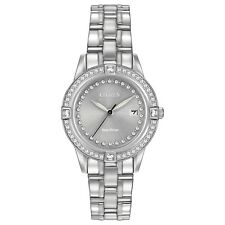 Citizen Eco-Drive Women's FE1150-58H Swarovski Crystals Silver-Tone 29mm Watch