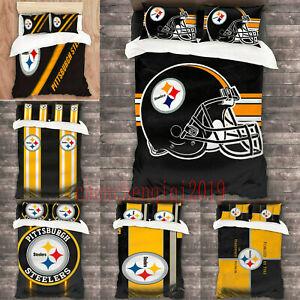 Pittsburgh Steelers 3PCS Bedding Set Duvet Cover Pillowcases Comforter Cover Set