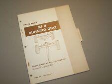 MF 8 WAGON RUNNING GEAR PARTS BOOK MANUAL CATALOG by MASSEY FERGUSON TRACTOR