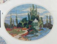 ArtCraft Concepts NEEDLEPOINT Kit~A TOUCH OF SPRING~ Oval Embroidery Kit Vintage