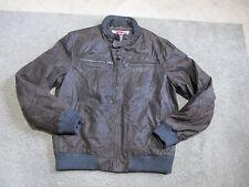 Levis Leather Jacket Adult Large Dark Brown Full Zip Long Sleeve Coat Levi's Men