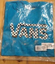 VANS BOYS T SHIRT OFF THE WALL NEW WITH TAGS BLUE CHECKER CLASSIC MEDIUM BOYS