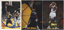 (3) TOPPS GOLD/BOWMAN'S BEST PREVIEW/TOPPS 40: KARL MALONE #279/BBP5/18 JAZZ LOT