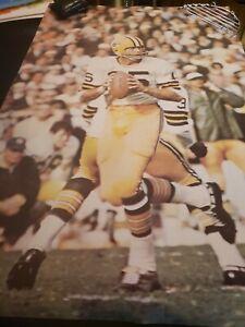 1968 Bart Starr Poster 7N15 Renselaar Green Bay Packers NFL Football Vintage 60s