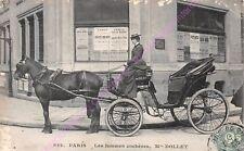 CPA PARIS METIER Les femmes cochères Mme Dollet taximètre ca1907