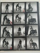 VINTAGE GAY MODEL MUSCLE  PHOTOGRAPHS NEGATIVE 1980'S LEATHER