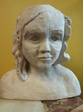 Antique Vintage Hand Carved Stone Head Sculpture