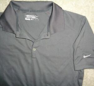 Nike Golf Mens S Brown Dri Fit Tour Performance Polo Shirt Perfect