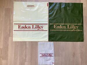 Vintage Retro Eaden Lilley Department Store Plastic Carrier Bag Cambridge x 2