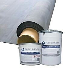 Rubber Roofing Kit for Flat Roofs , EPDM Membrane Supplied with Adhesives