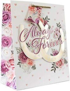 Wraptastic - XL (324x 102 x 445mm )- Gift Bag & Tag - Wedding Day/Anniversa