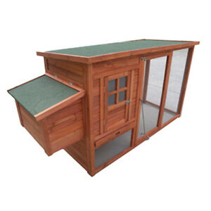 Chicken Coop NEW 198*75*103cm large size Hen house Chook Hutch Run Cage P001