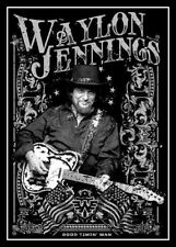 "5"" Waylon Jennings Good Timin' Man vinyl sticker. Classic country music decal."