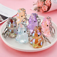 Cute Crystal Unicorn Key Ring Pendant Keychain Handbag Hanging Ornaments Gift