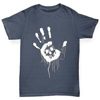 Twisted Envy Skull Handprint Boy's Funny T-Shirt