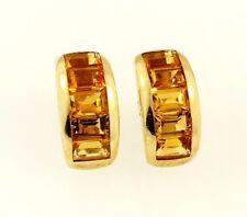9Carat Yellow Gold Citrine Stud Earrings (10x19mm)