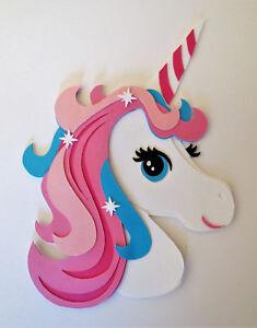 Unicorn Head Die Cut Paper Piecing Scrapbook Embellishment