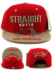 San Francisco New Leader The SF Bay Area Skyline 49ers Red Era Snapback Hat Cap