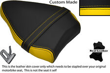 BLACK & YELLOW CUSTOM FITS DUCATI STREETFIGHTER 848 REAR PILLION SEAT COVER