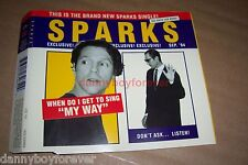 Sparks Germany Sonopress 4 Track CD Single When Do I Get To Sing My Way