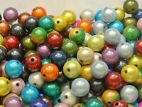 30 Mixed Color 3D Illusion Acrylic Miracle beads 14mm Spacer