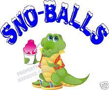 "Sno-Balls Decal 14"" Shaved Ice Snow Cones Concession Trailer Cart Vinyl Sticker"