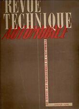 REVUE TECHNIQUE AUTOMOBILE 21 RTA 1948 ETUDE MOTEUR DIESEL DOG 4c