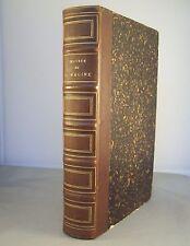 OEUVRES DE JEAN RACINE / L.S. AUGER / RELIURE 1/2 CUIR JOUVET 1881 / GRAVURES